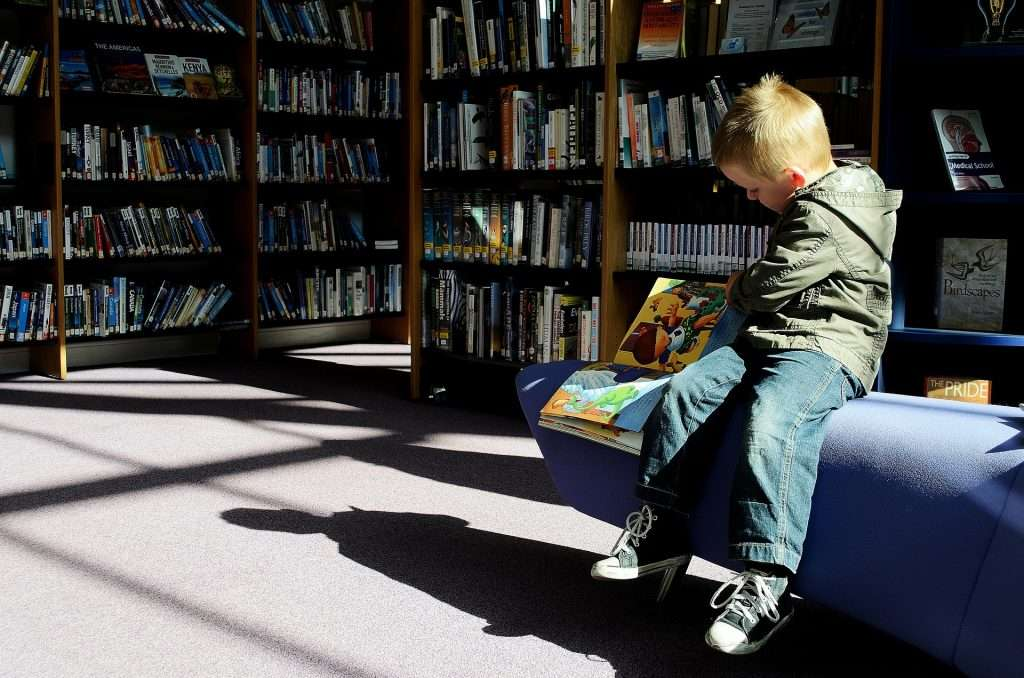 Libraries are a great place to learn to read