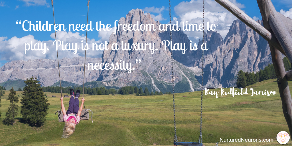 "quotes about play - ""children need the freedom and luxury to play"""