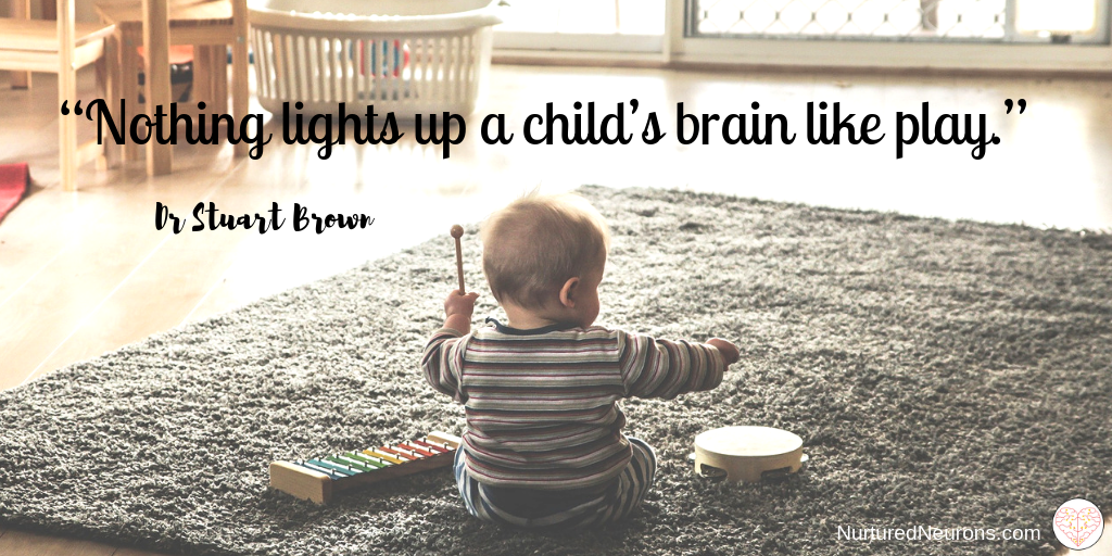 """Nothing lights up a child's brain like play"""