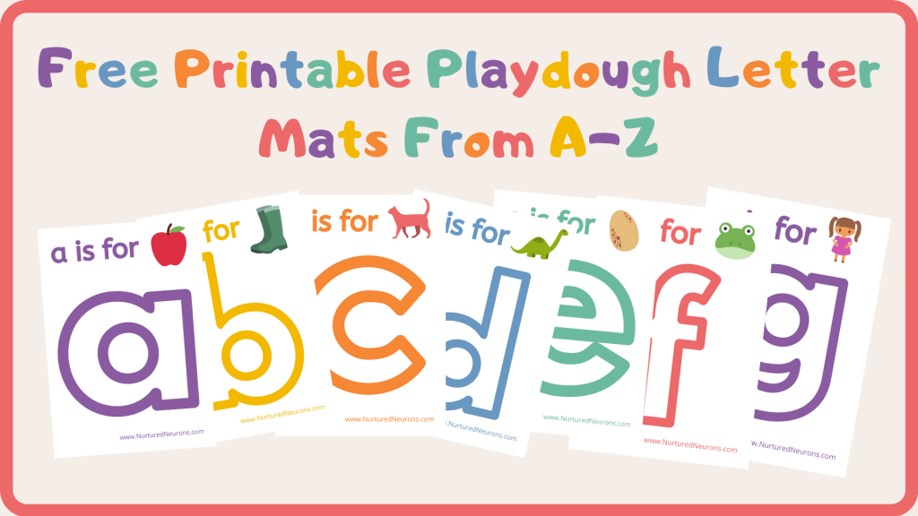 Free Printable Playdough Letter Mats From A-Z