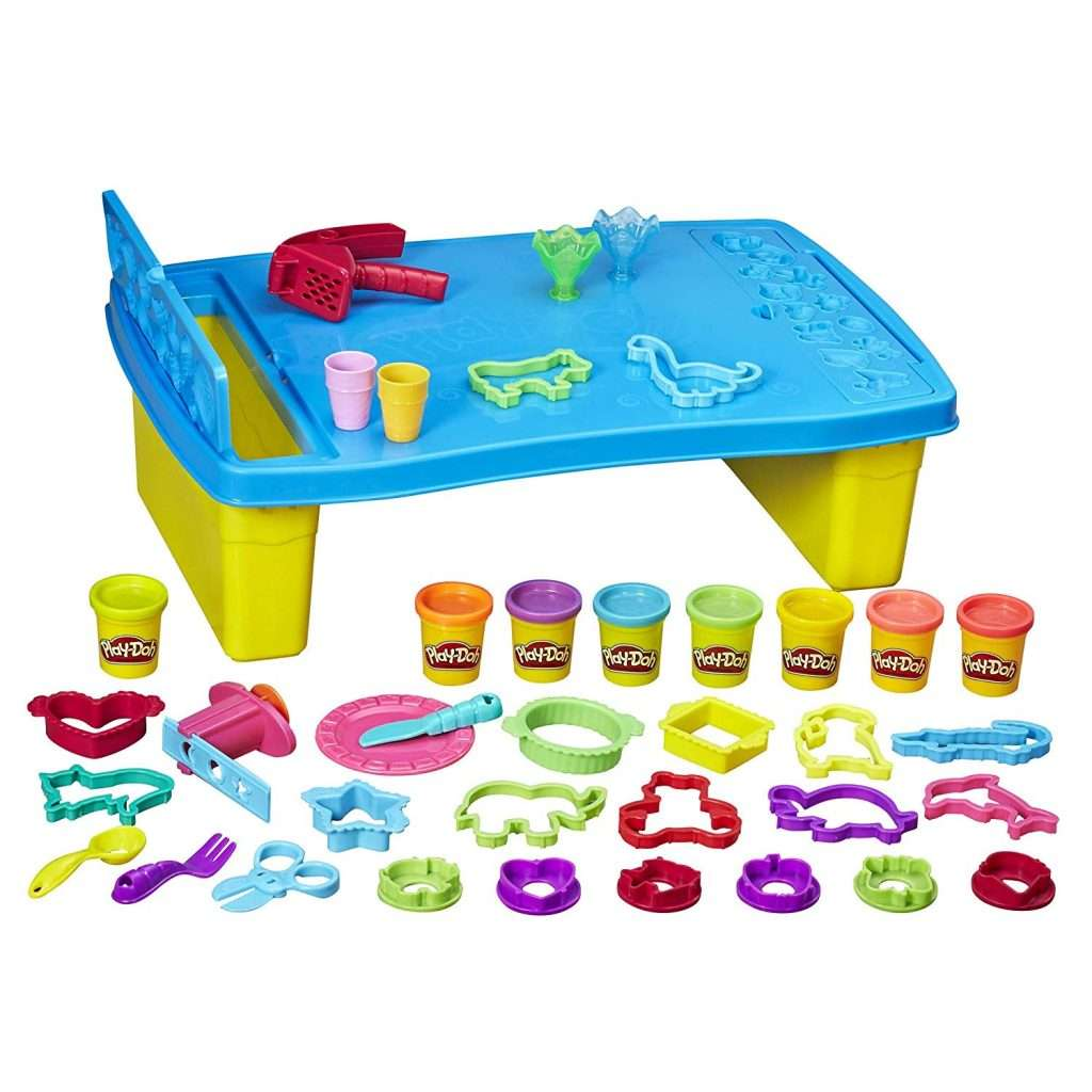 Playdough storage table (for storing the best homemade playdough)