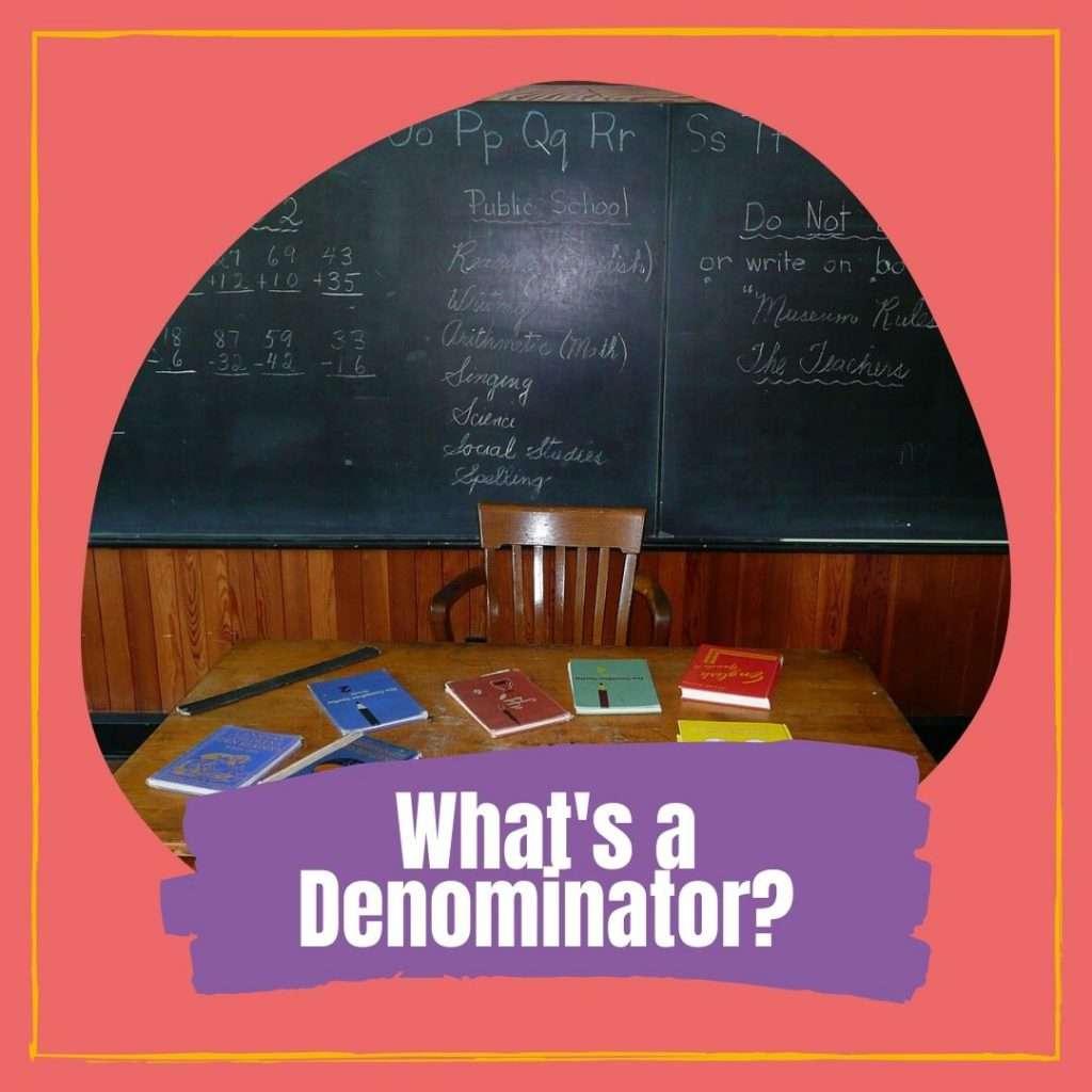 What's a denominator Cover photo