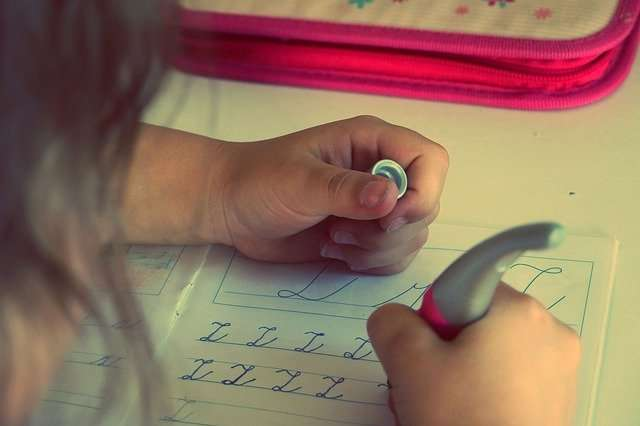 practise writing the letters
