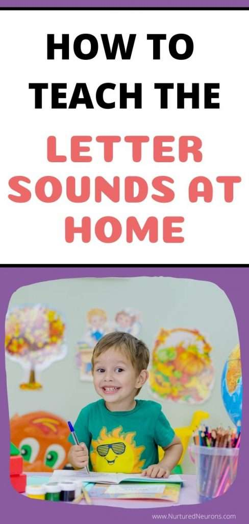 How To Teach The Letter Sounds At Home Nurtured Neurons