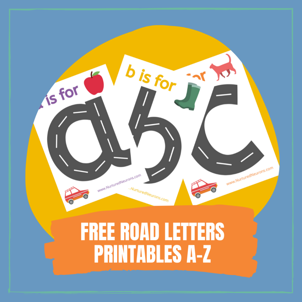 LEARNING TO WRITE ALPHABET DRIVING PRINTABLES