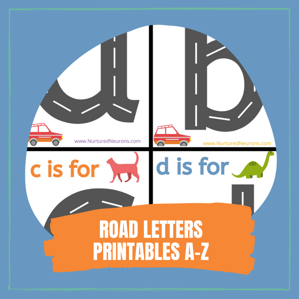 LEARNING TO WRITE ROAD LETTERS PRINTABLES