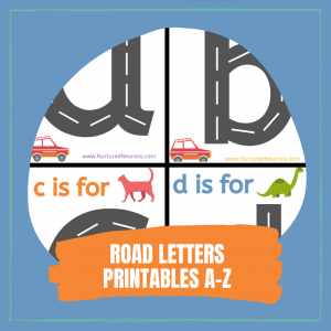 Pre-writing Skills ROAD LETTERS PRINTABLES