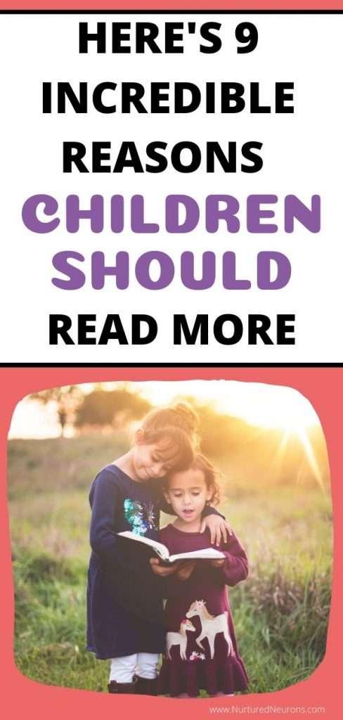 REASONS CHILDREN SHOULD READ MORE