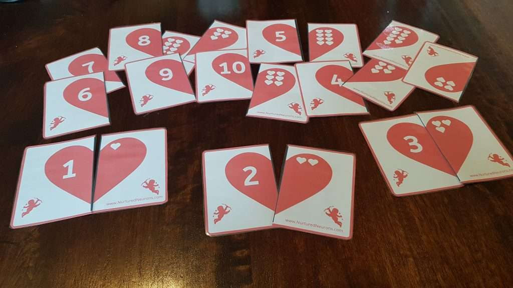 preschool valentine's day math game