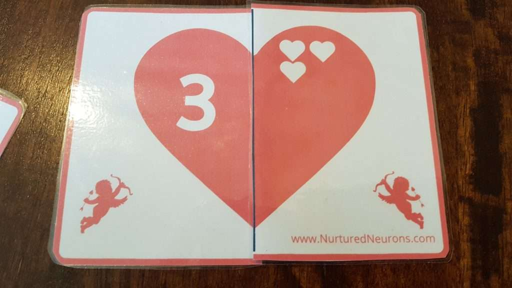 free printable valentine's day number matching game