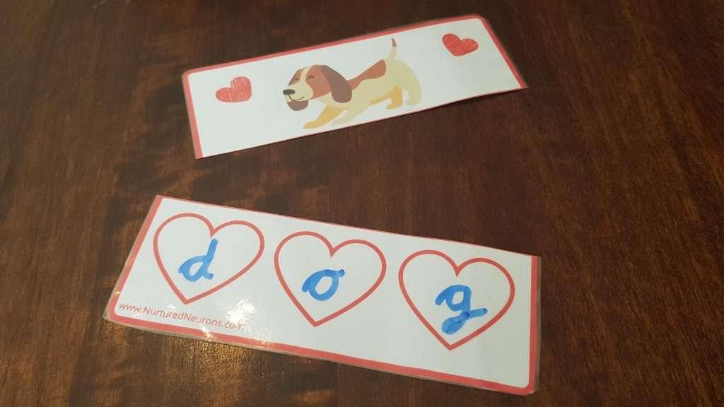 Valentine's Day CVC Words Matching Game