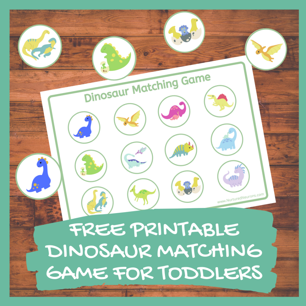 FREE PRINTABLE DINOSAUR MATCHING GAME FOR TODDLERS