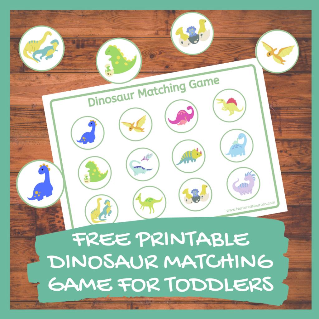 FREE PRINTABLE DINOSAUR MATCHING GAME FOR TODDLERS