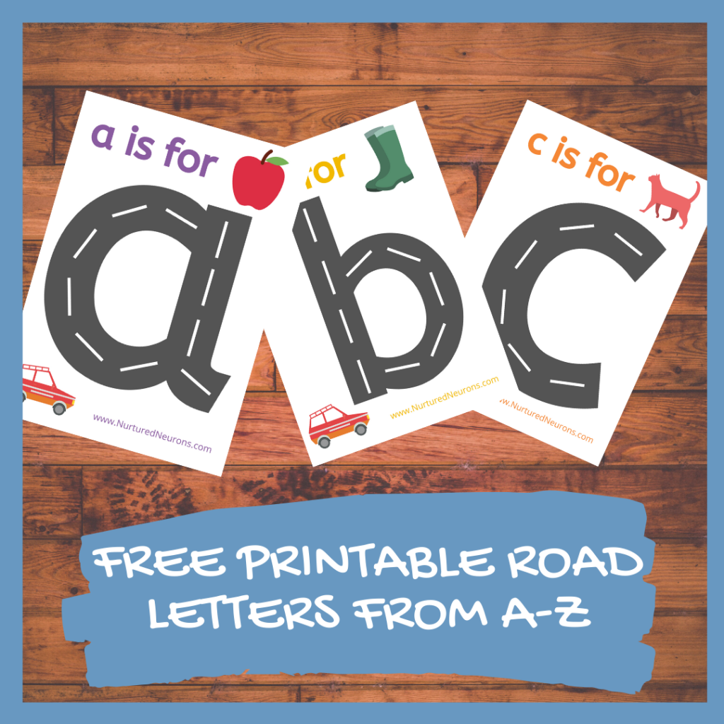 FREE PRINTABLE ROAD LETTERS FROM A-Z PRESCHOOLERS AND TODDLERS
