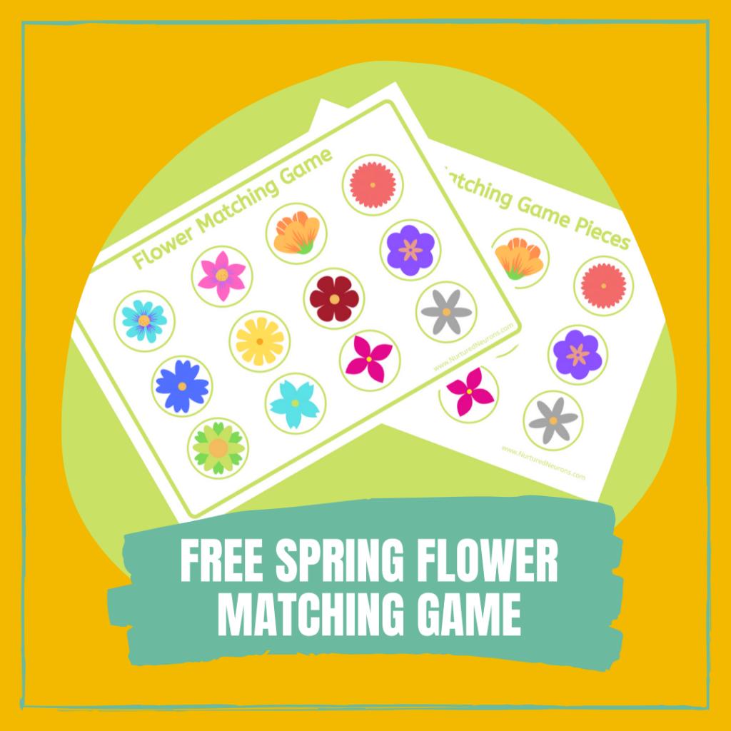 FREE SPRING FLOWER MATCHING GAME