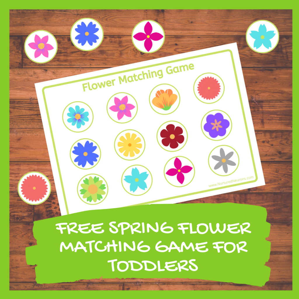 FREE SPRING FLOWER MATCHING GAME FOR TODDLERS