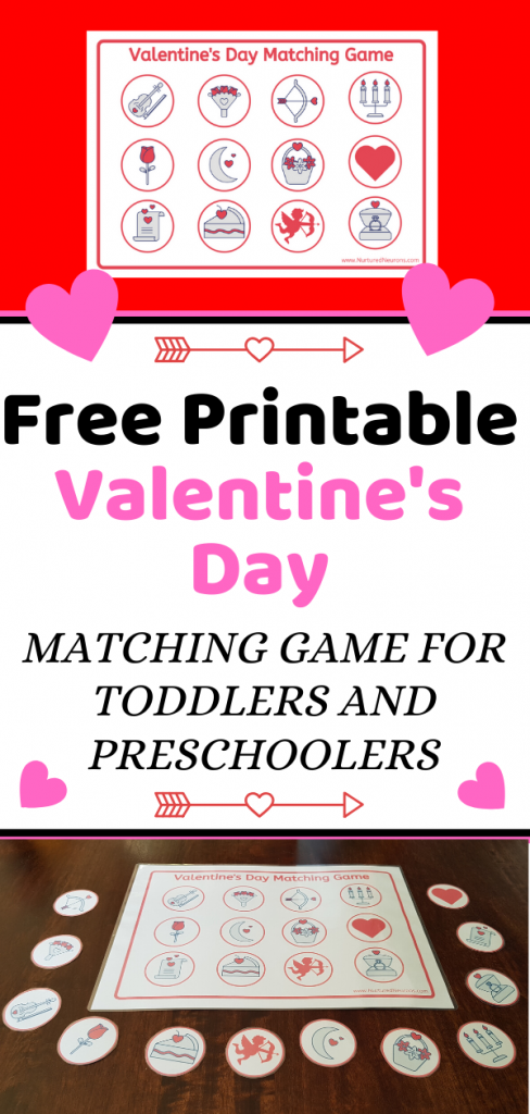 Free Printable Valentine's Day MATCHING GAME FOR TODDLERS AND PRESCHOOLERS