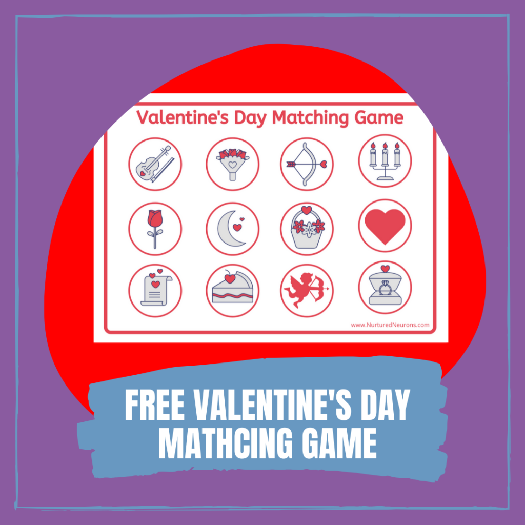 Free Printable Valentine's Day Matching Game for Toddlers
