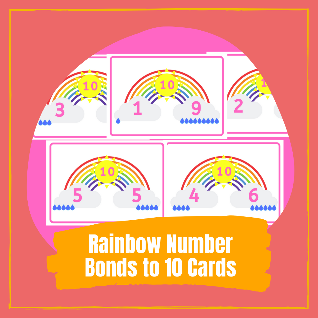Rainbow Number Bonds to 10 Cards Free PRINTABLES