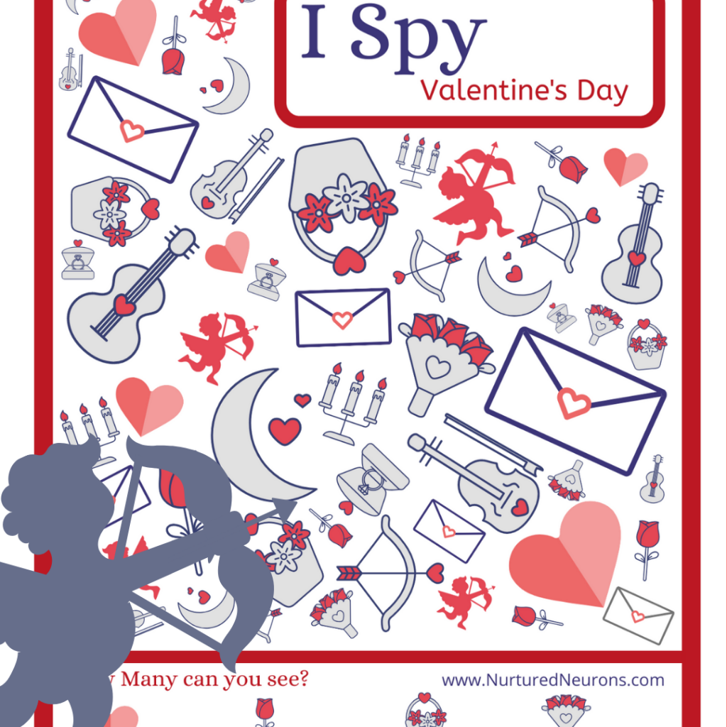 Valentine's Day I Spy Free Printable Game