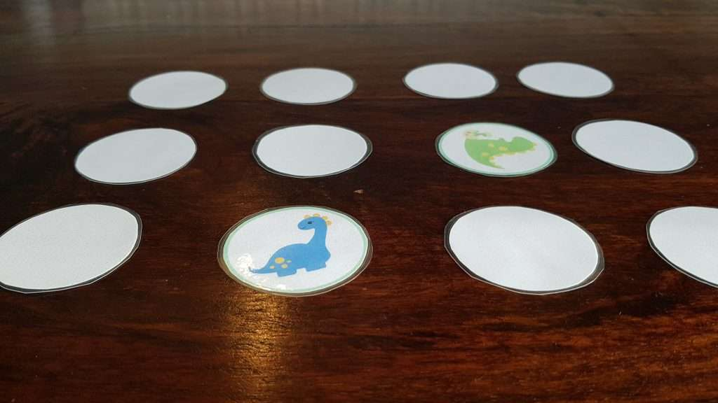 dinosaur memory game for toddlers