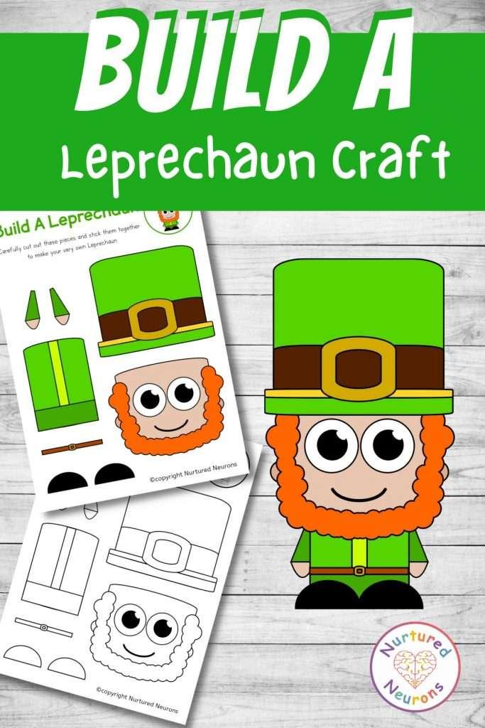 printable Leprechaun craft for preschool