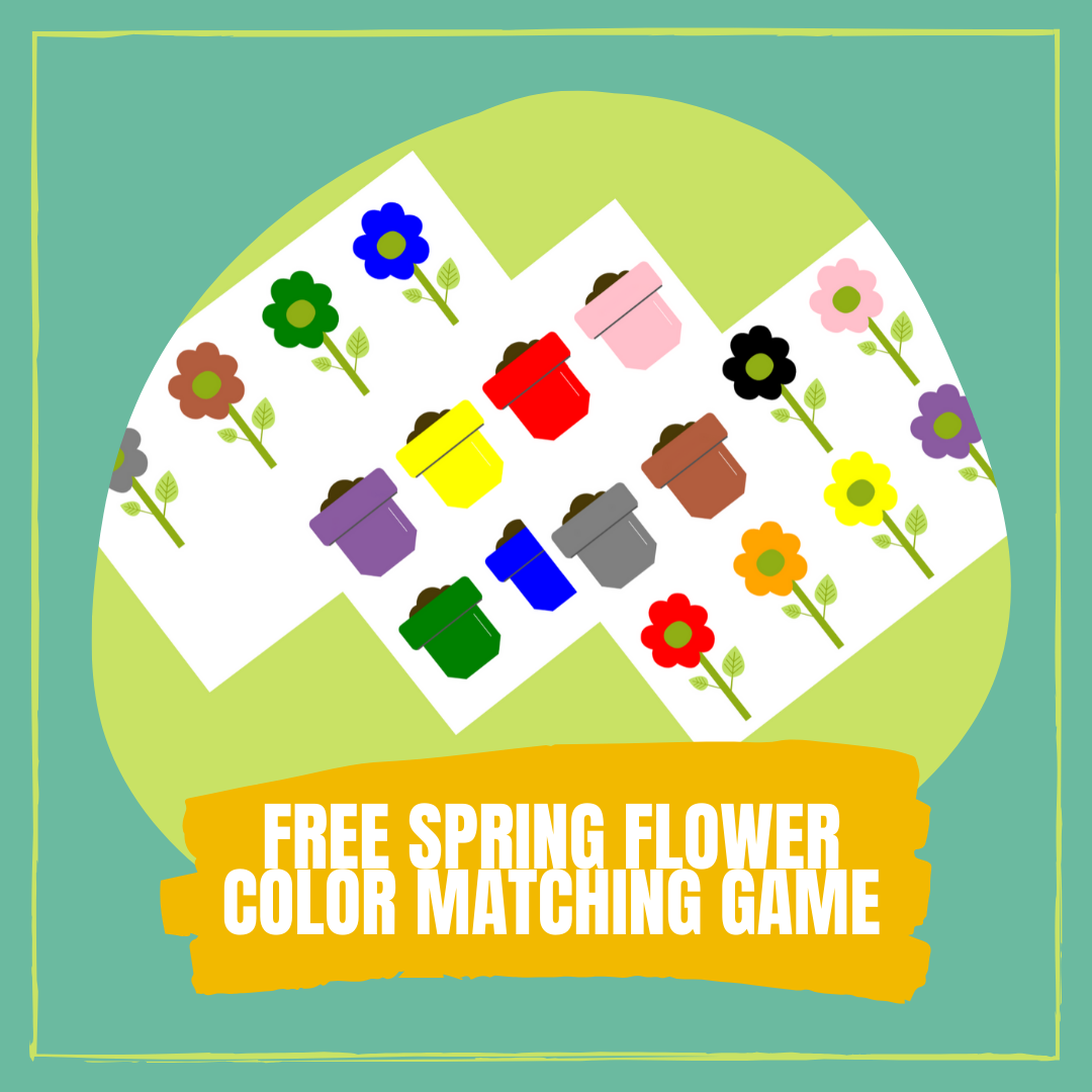 FREE SPRING FLOWER COLOR MATCHING GAME cover