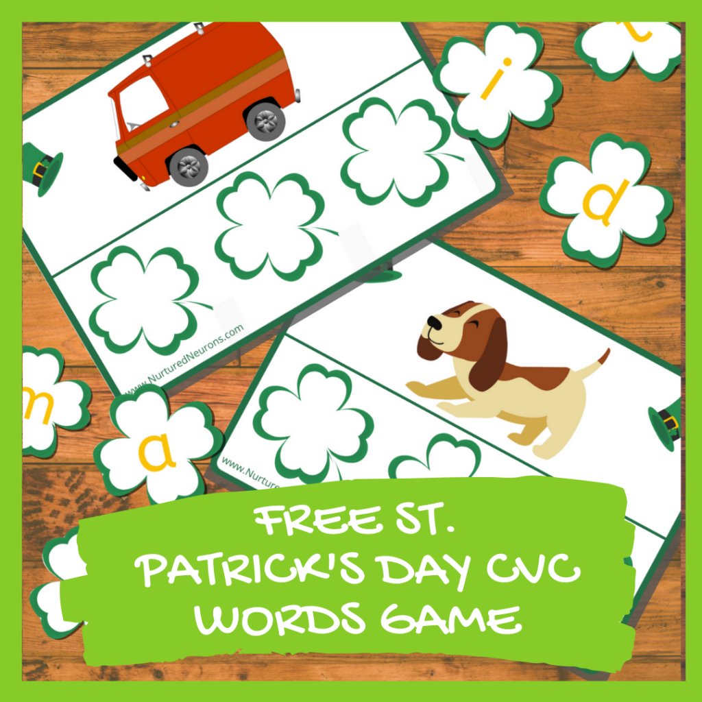 FREE ST. PATRICK'S DAY CVC WORDS GAME Kindergarten