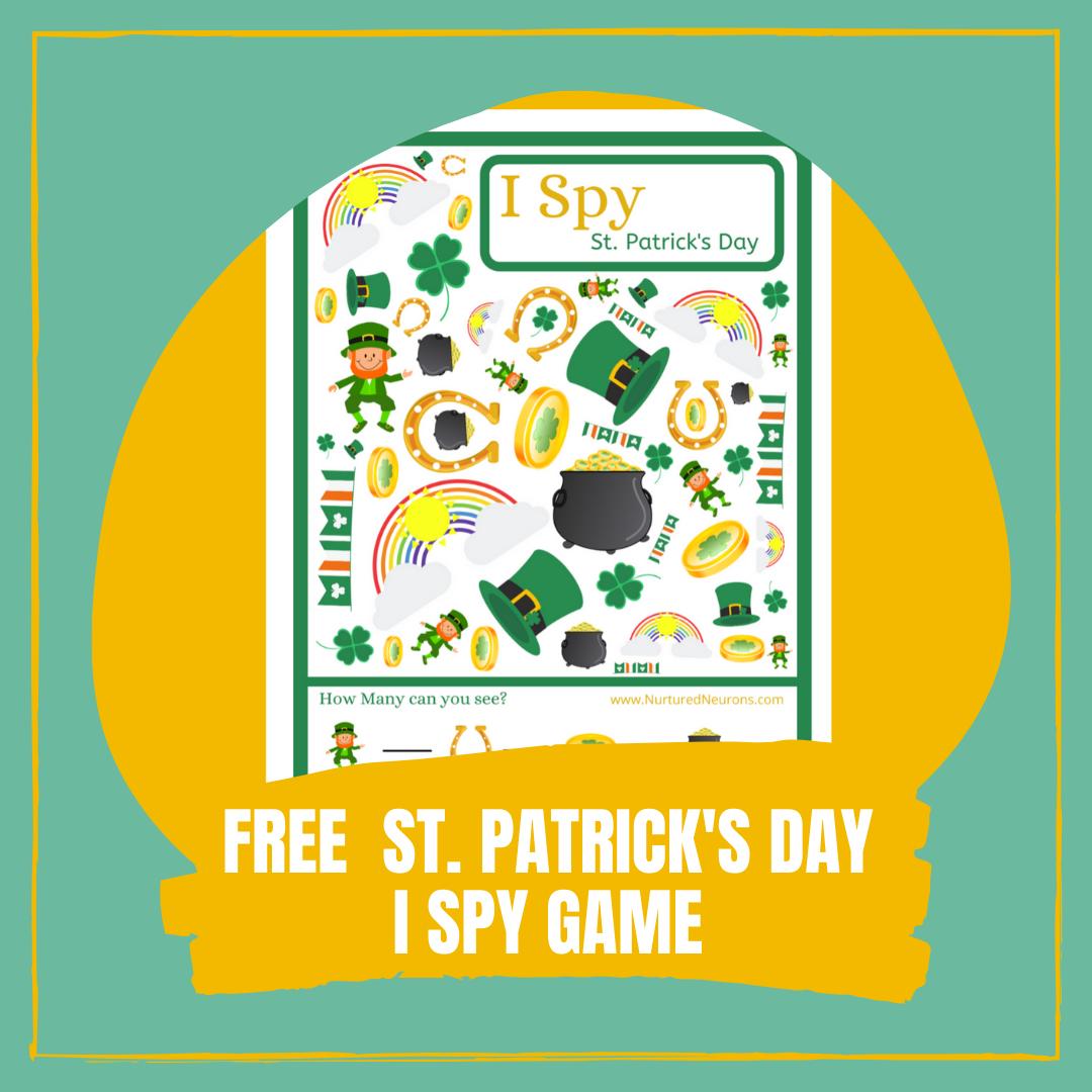FREE ST. PATRICK'SDAY I SPY GAME cover