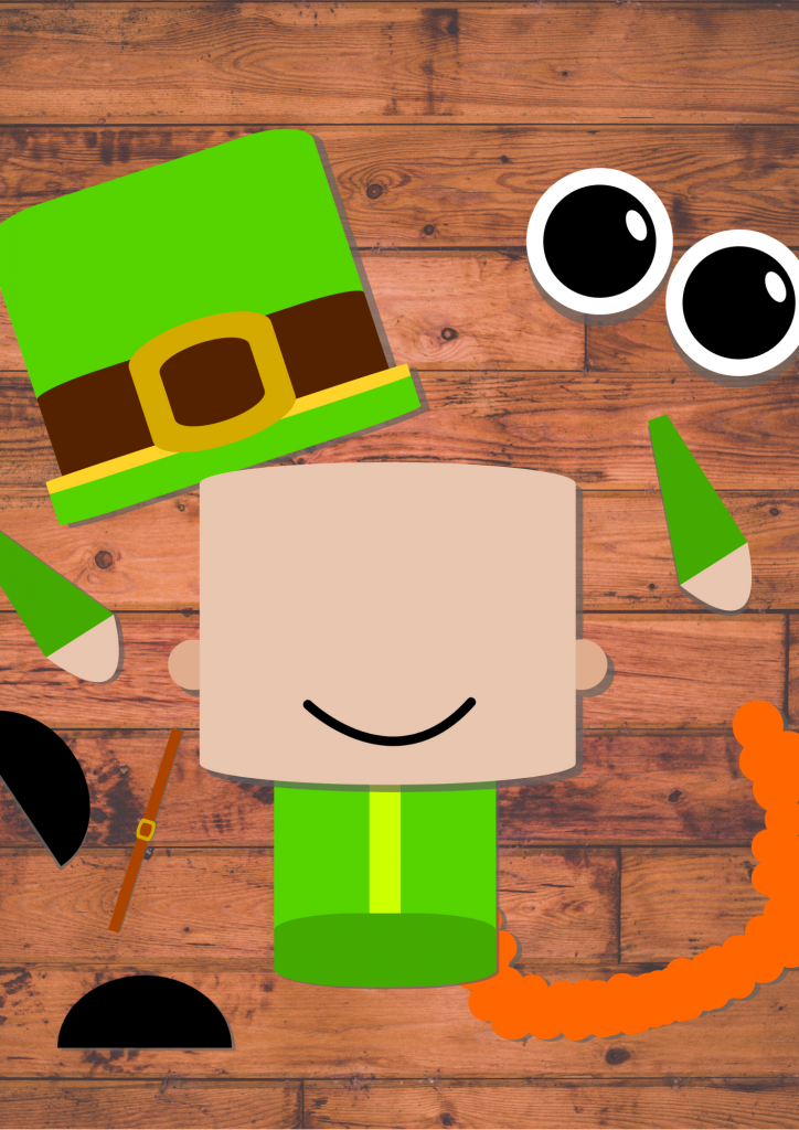 Free Printable Build A Leprechaun Craft in color