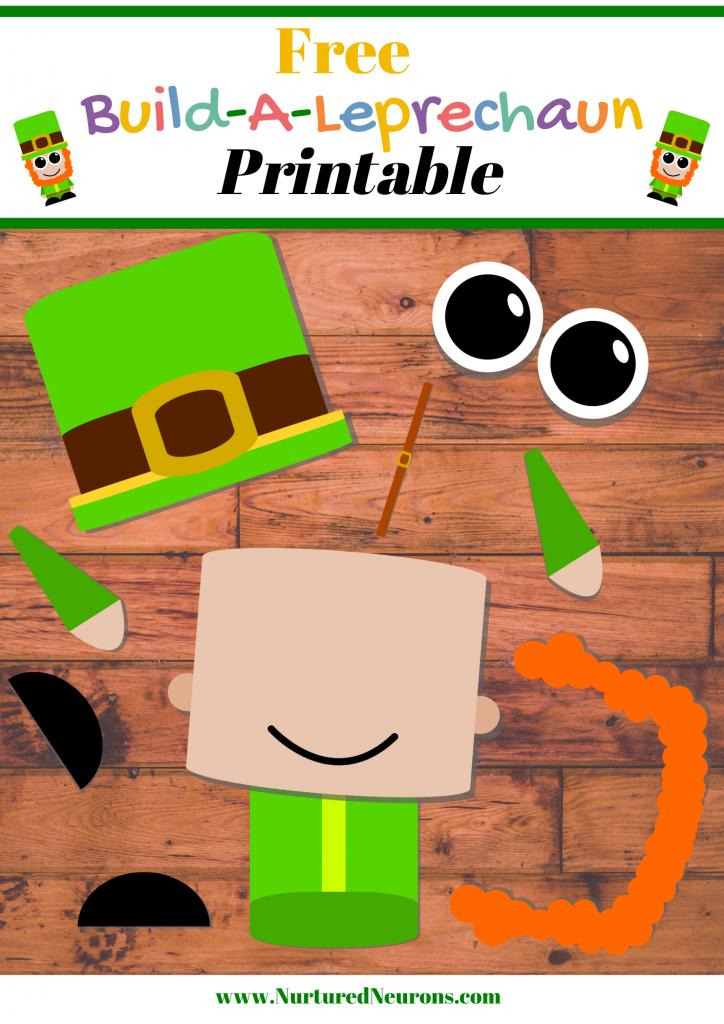 Free Printable Build A Leprechaun Craft
