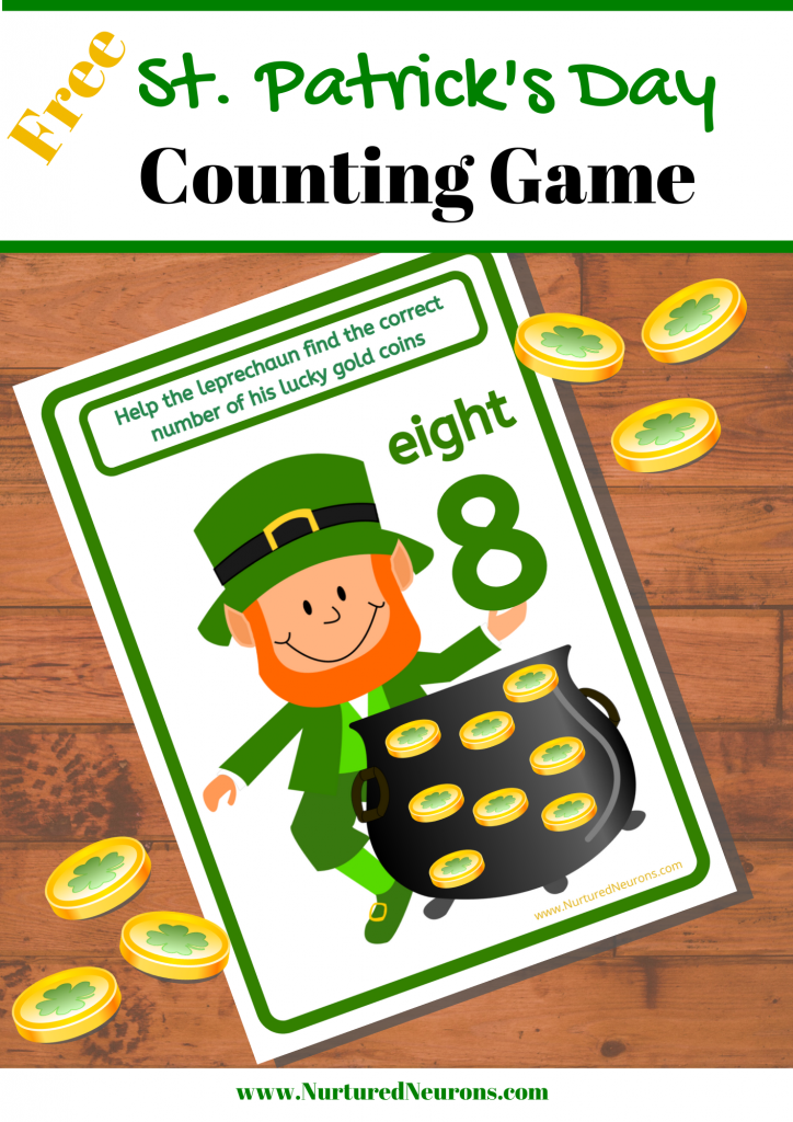 Free Printable St. Patrick's Day Counting Game