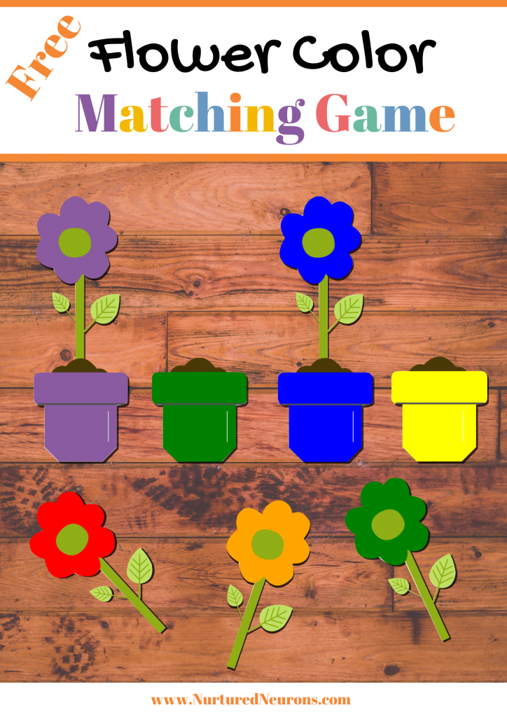 Free Printable Spring Flower Color Matching Game