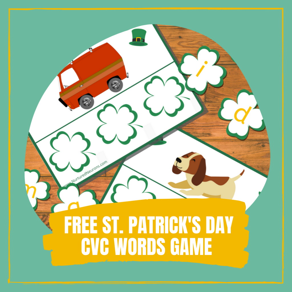 Free St. Patrick's Day CVC Words