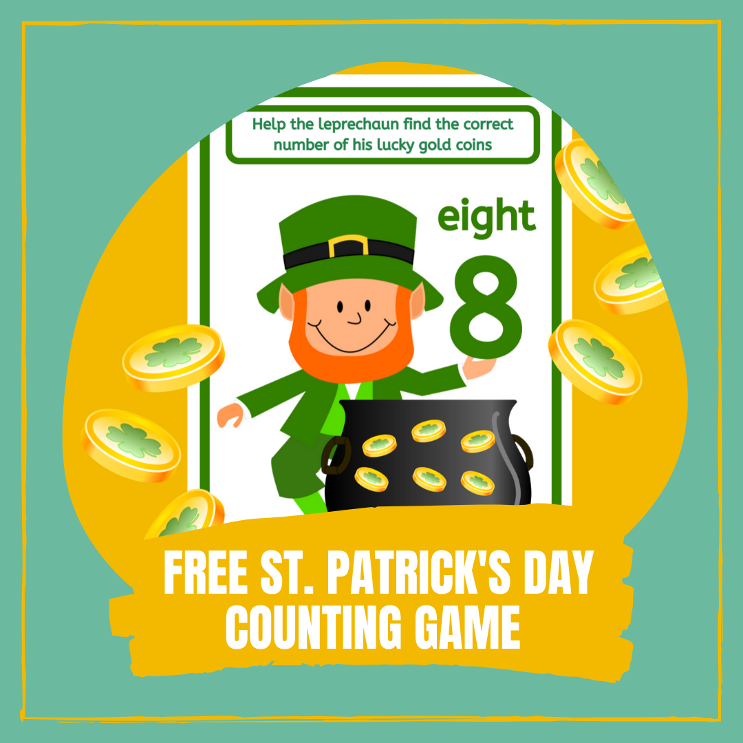 Free St. Patrick's Day Counting Game 1-10