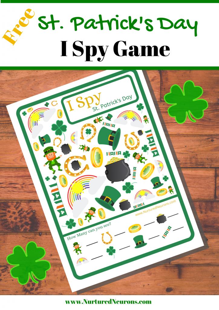 Free Kid's St. Patrick's Day I Spy Game Printable