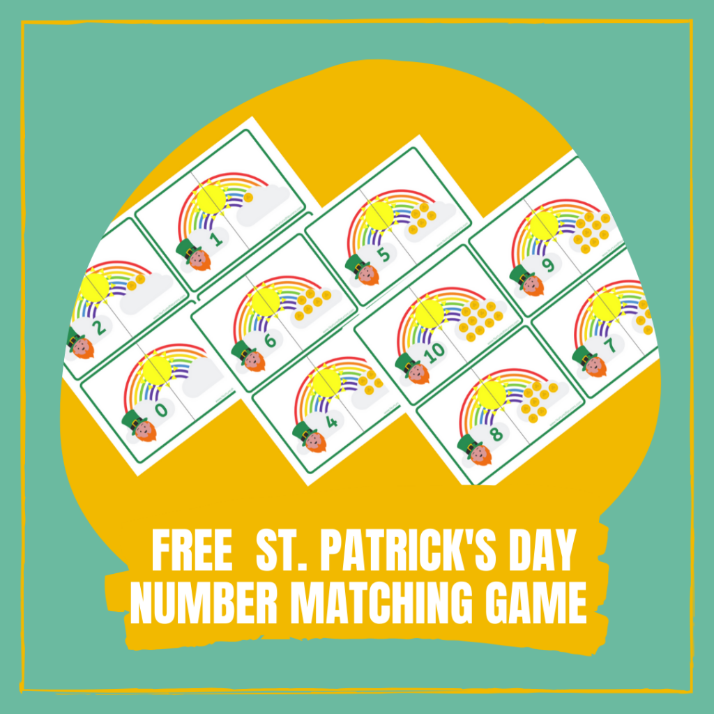 Free St. Patrick's Day Number Matching Game Counting 0-10