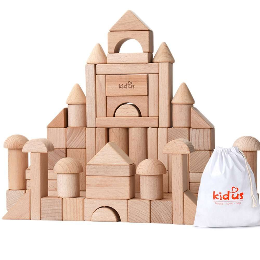Wooden blocks - preschool mayh skills - geometry