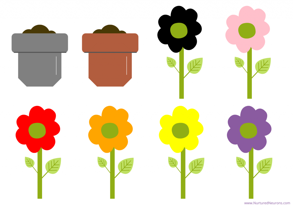 flower color matching game