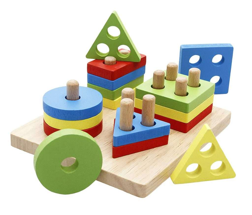 wooden puzzle - preschool math skills -shape