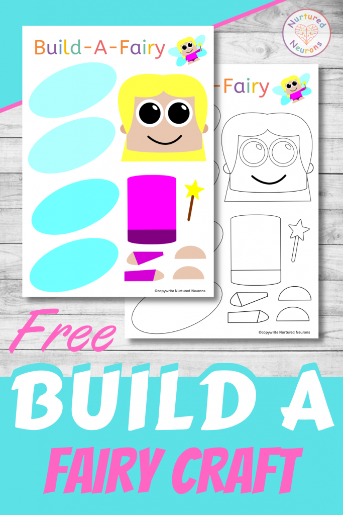 Build A Fairy free printable craft for preschoolers and toddlers