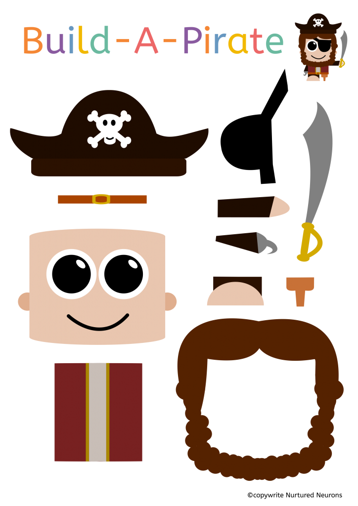 Build A Pirate Craft (Free Printable)