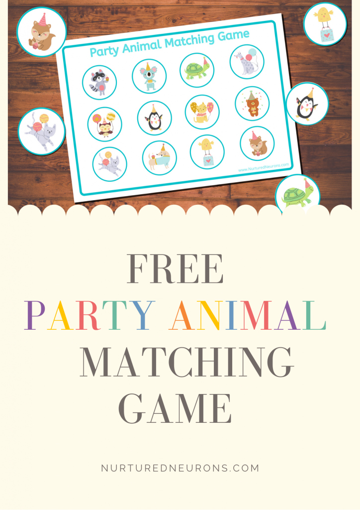 Party Animal cute Matching Game