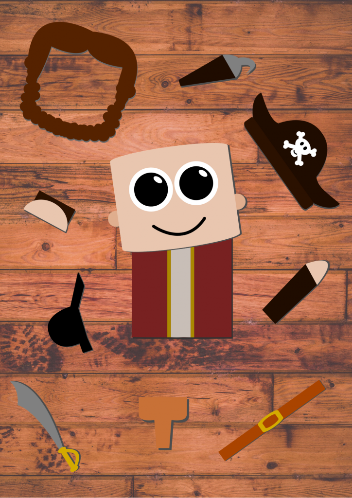 Simple Printable Build A Pirate Craft
