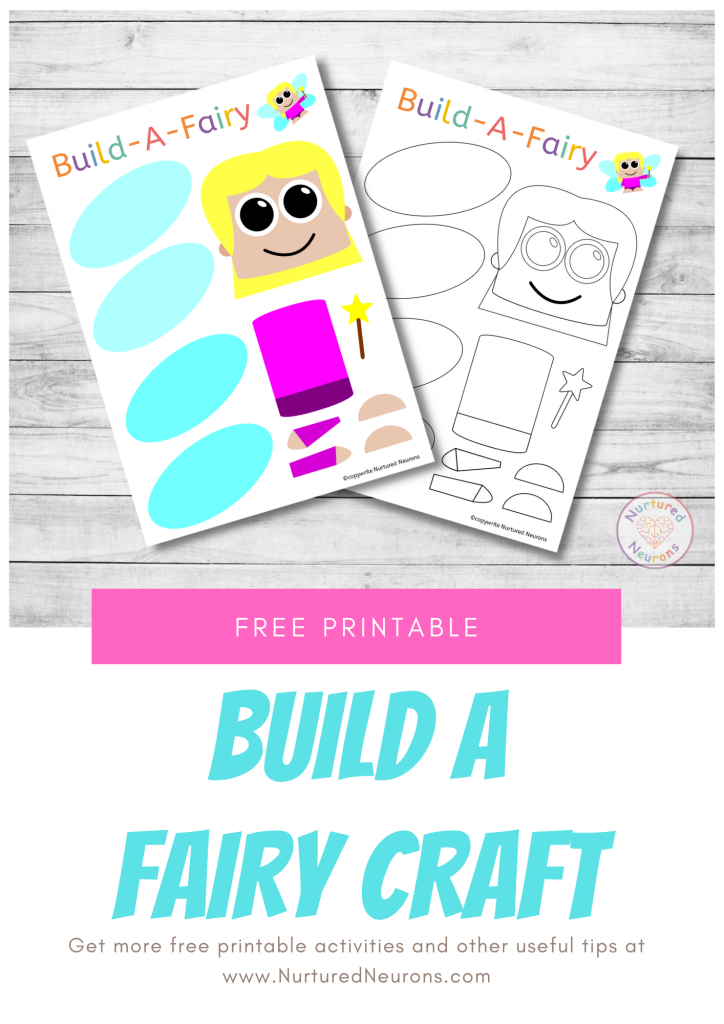 Build A Fairy free printable templates for preschoolers and toddlers