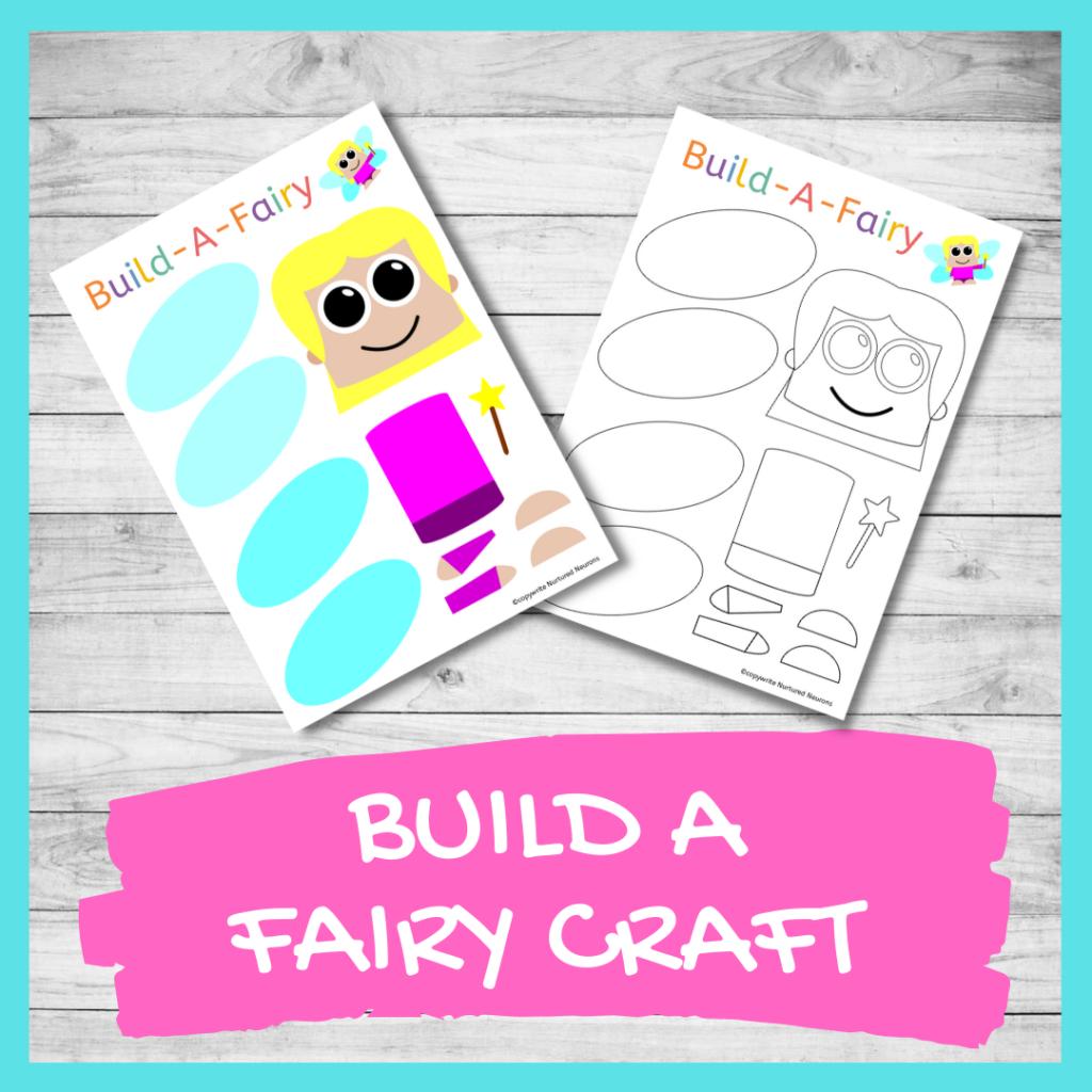 FREE PRINTABLE BUILD A fairy CRAFT Preschool