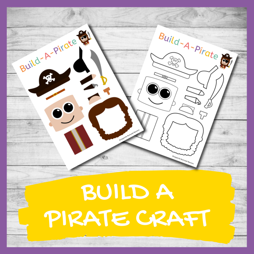 FREE PRINTABLE BUILD A Pirate CRAFT