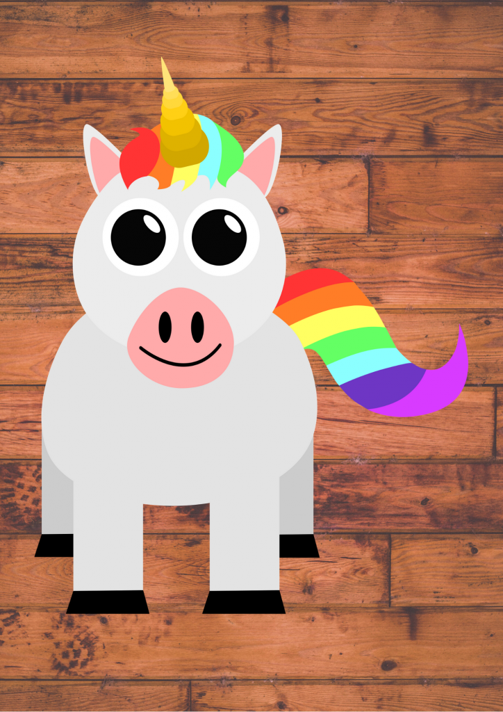 Free Printable Build A Unicorn Craft for preschoolers