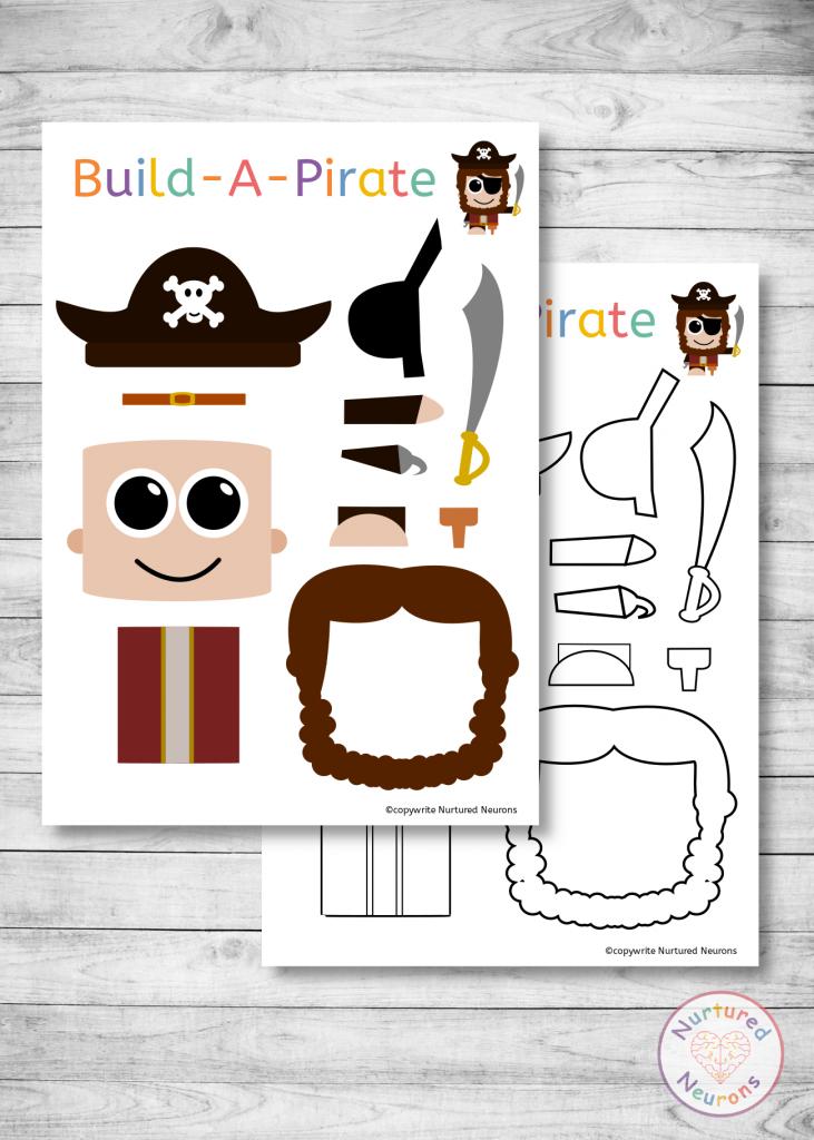 Free make a pirate craft templates