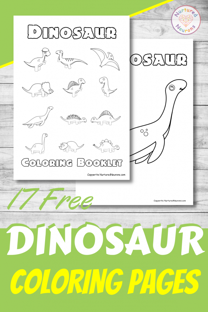 17 Free cute Dinosaur Coloring pages preschool